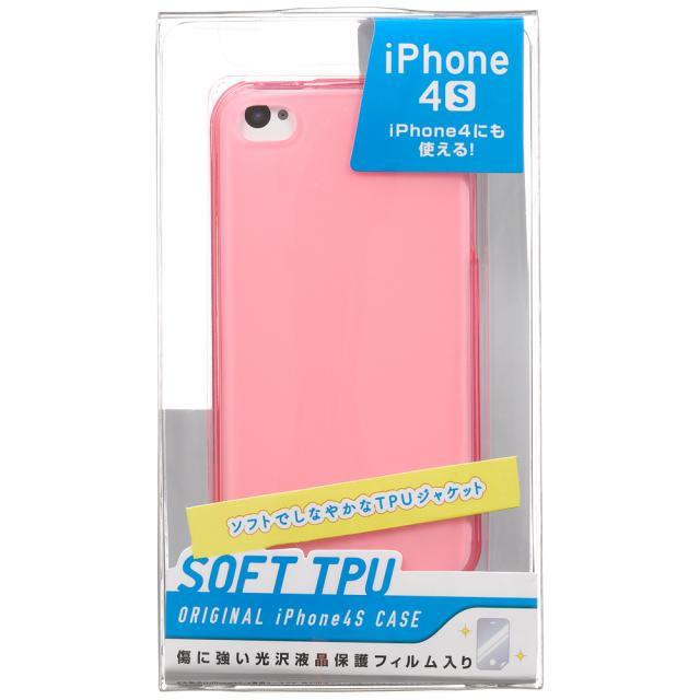 iPhone4S用TPUジャケット保護フィルム付き